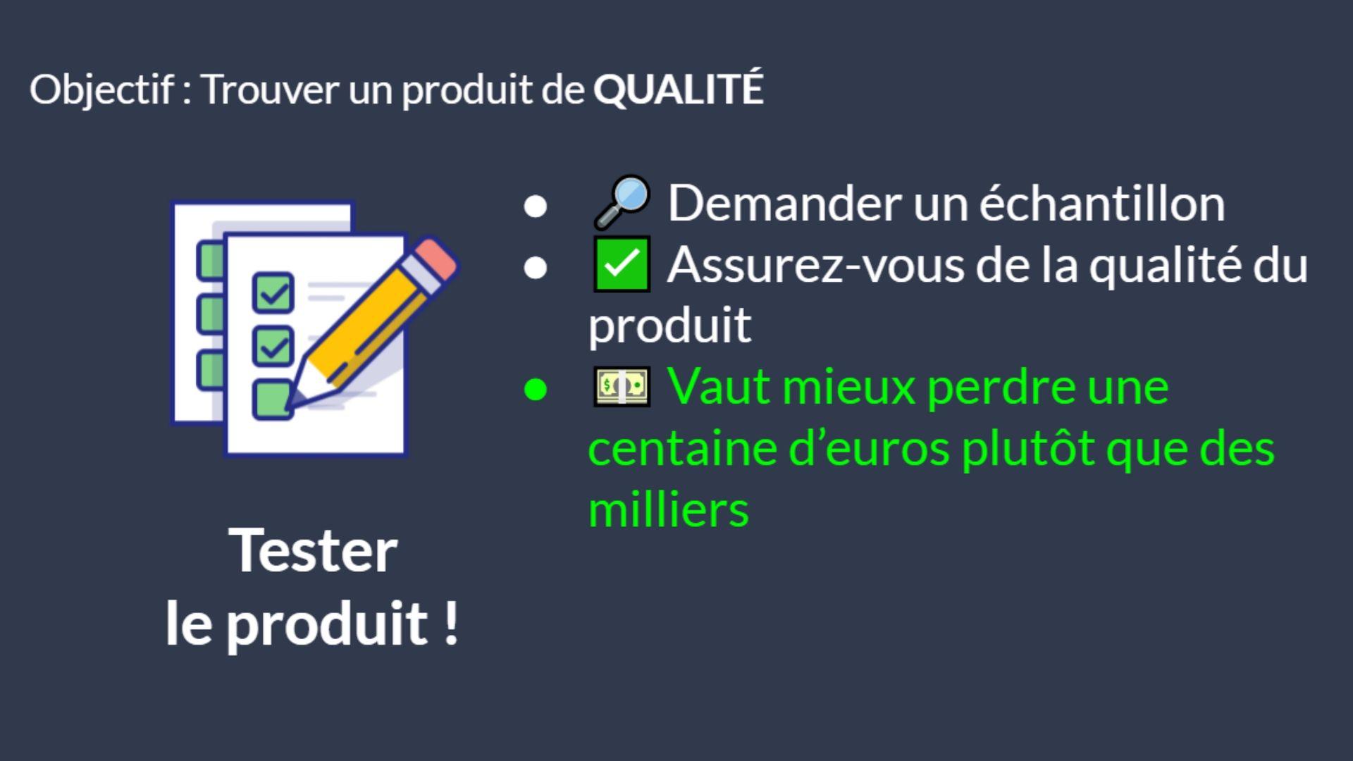 Trouver un produit de qualité à vendre sur Amazon