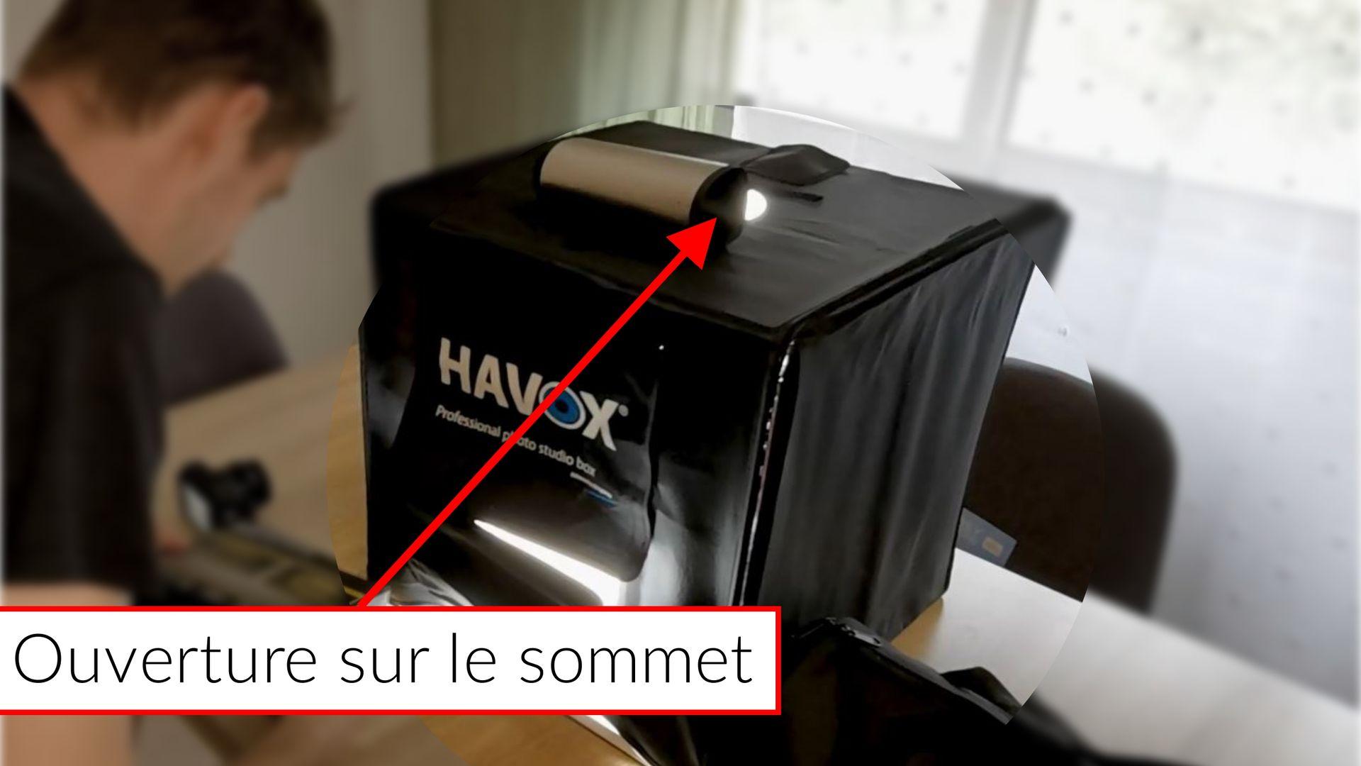 Intellifox - Lightbox - Havox 40x40x40 - prise de vue sur le sommet